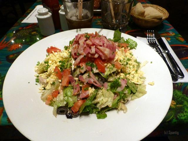 Vucanic Cobb Salad, Rainforest Cafe