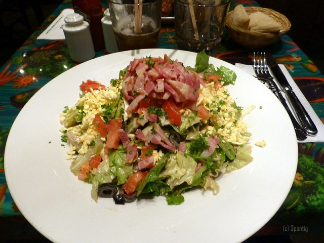 Vucanic Cobb Salad, Rainforest Cafe