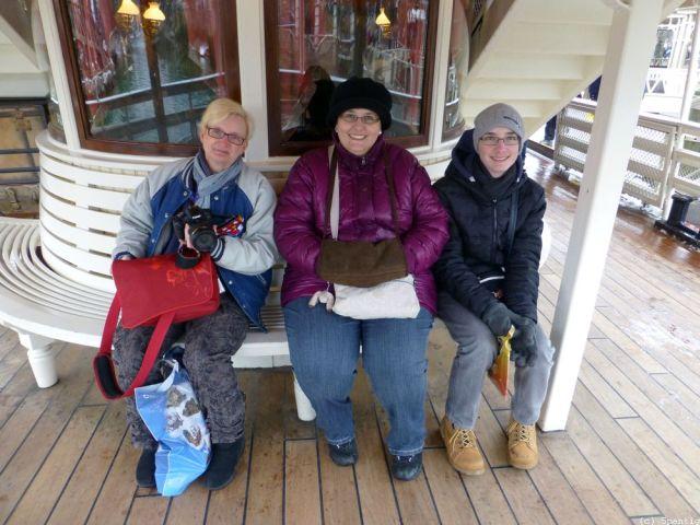 Mit Marc und seiner Mutter auf der Molly Brown