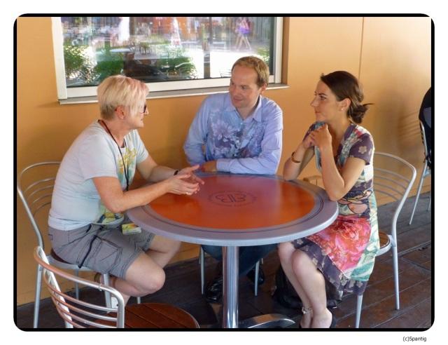 Mit Diana und Konstantin im Billy Bobs
