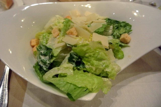 Caesar Salad Romaine lettuce, Caesar dressing garlic croutons and Parmigiano Reggiano shavings