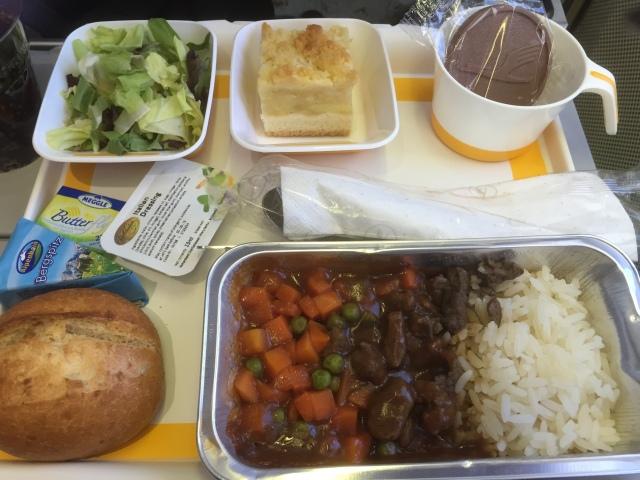 Bœuf Stroganoff a la Lufthansa